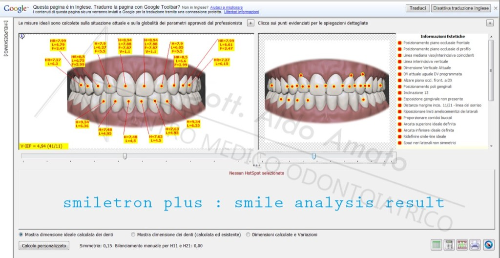 7 smile analysis result
